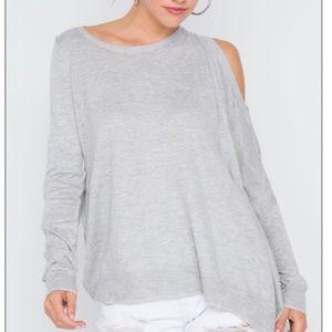 Asymmetrical Off-shoulder Sweater